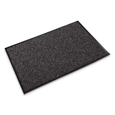 Crown - Fore-Runner Outdoor Scraper Mat, Polypropylene, 48 x 72, Gray - Sold As 1 Each - Durable Loop-Twist Surface vigorously scrapes Off and Traps Dirt, Debris and Snow.