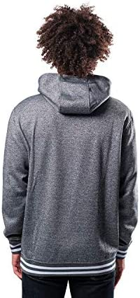 Ultra Game Herren GHM3543F NBA, Mannschaftsstreifen, gerippt, Vlies, Pullover, Kapuzenpulli, Sweatshirt, Charcoal Heather, Medium
