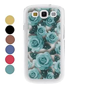 Exquisite Roses Pattern Hard Case for Samsung Galaxy S3 I9300 (Assorted Colors) --- COLOR:Black