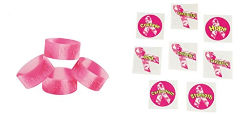 48 Pink Ribbon Camouflage Rings And 12 Pink Ribbon Camouflage Tattoo's