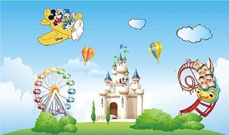 Homwish Mickey Disneyland Amusement Park Kids Decor Vinyl