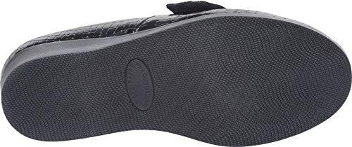 Cosyfeet Carmen Shoes - Extra Roomy (Eeeee+ Width Fitting) Black Patent Croc Print 95Iu24E