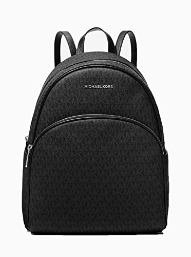 MICHAEL Michael Kors Abbey Jet Set Large Leather Backpack (Black PVC 2019)