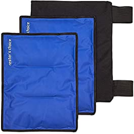 Rester's Choice Large Ice Packs & Wrap – Use as Hip Ice Pack Wrap, or Cold Pack for Injuries, Shoulder, Knee, Back Pain…