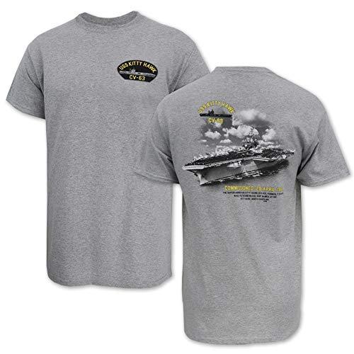 Navy USS Kitty Hawk CV64 T-Shirt large grey