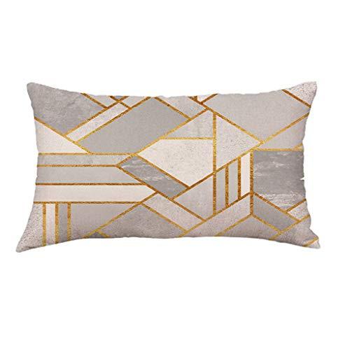 - DONTAL Super Soft Geometric Short Plush Pillowcase Sofa Pad Set Home Decoration