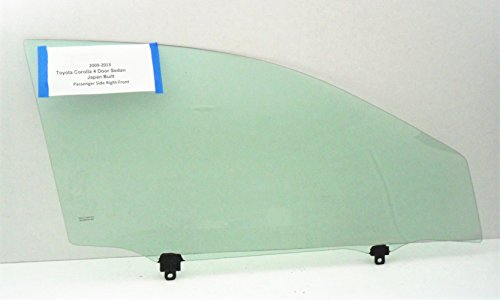 Fits 2009-2013 Toyota Corolla 4 Door Sedan Passenger Side Right Front Door Window Glass JAPAN BUILT NEW (Window Japan)