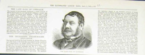 Portrait Earl Londsdale Antique Print 1876