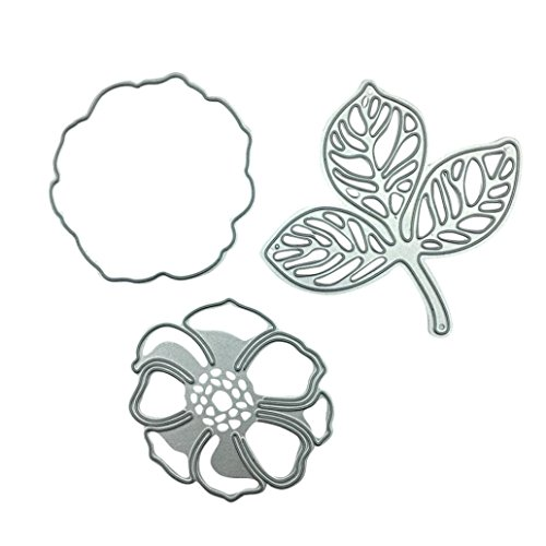 Metal Cutting Dies for Card Making, Staron Die Cuts Scrapbooking Stencils Embossing Cut Die Metal Template Mould for DIY Scrapbook Embossing Photo Album Cards Crafts (D) by Staron (Image #1)