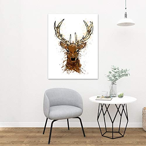 ABSTRACT STAG PICTURE ART PRINT POSTER JT018A