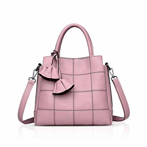 Fashion Pink NICOLE Atmosphere Leather Handbag Female Simple Bag for Female Handbags Trendy Bag Light Shoulder a Blue New amp;DORIS Woman Handbags HSwH7