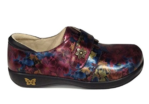 Alegria Womens Joleen Loafer Special Lady burgundy Floral Comfortable Loafer (39) by Alegria