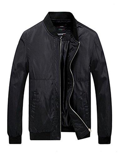 Jacket Vintage Colore Cappottino Classico Moda Slim Nero Puro Retro Fit Cappotto Uomini zZ6twyqw