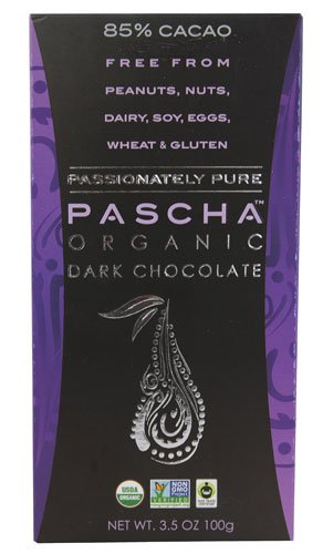 Pascha Organic Dark Chocolate 85% Cacao -- 3.5 oz