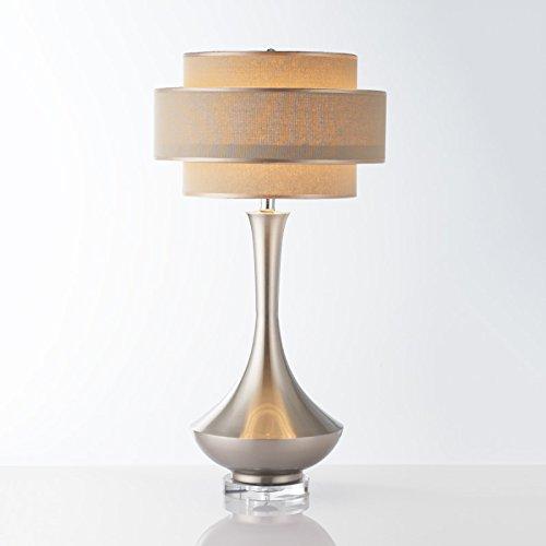 HNZZN Lámparas de mesa blancas simples de metal ...
