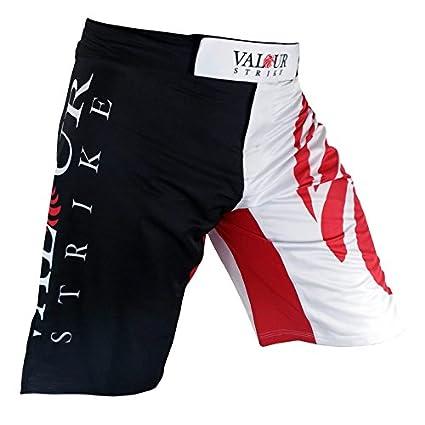 Noir Valour Strike Pro Prot/ège-Jambes en Cuir pour prot/ège-Tibias MMA UFC Pied Muay Thai Kick Boxing Sparring All Black