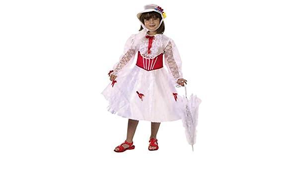 Mary Poppins Disfraz de Niñera Victoriana para niña: Amazon.es ...