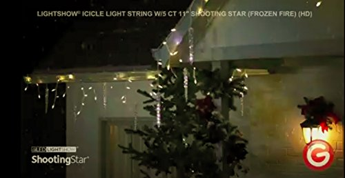 amazoncom lightshow 5 light icicle shooting star frozen fire string light set garden outdoor