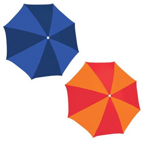 6' Rio Beach Umbrella - RIO Gear Rio Brands UB884-TS Poly Umbrella, 6-Feet, Assorted