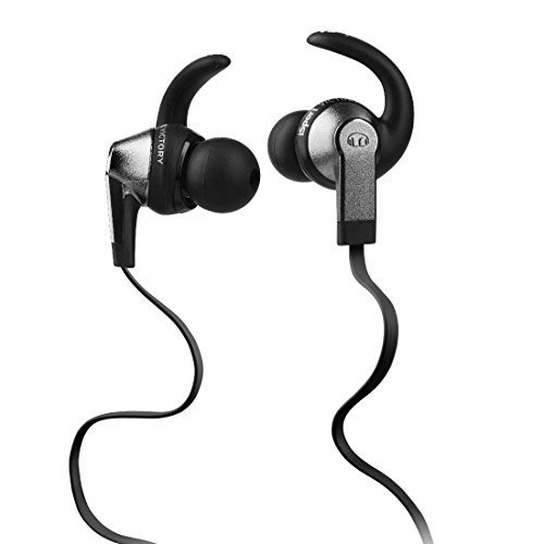 Monster iSport Victory In-Ear Headphones, Black, Running, Sweatproof