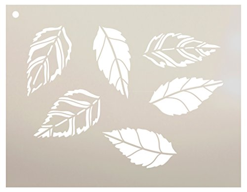 Oak Leaves Variety Stencil by StudioR12 | Reusable Mylar Template | Use to Paint Wood Signs - Pallets - Pillows - DIY Home Nature Decor - Select Size (9