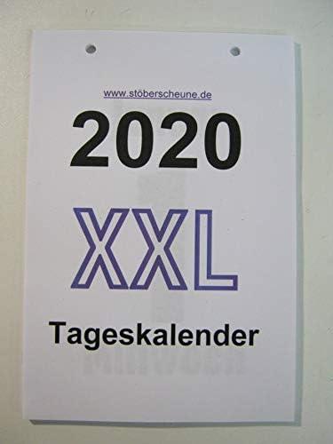 Tageskalender, XXL 2020 Kalendarium (Einlegeblätter) zur Weiternutzung der Rückwand/Halterung, DIN A 5 ca 25 x 14,5 cm