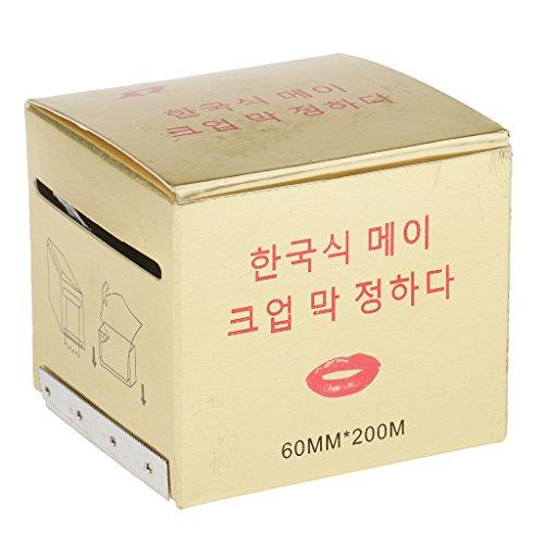 MagiDeal Rouleau Film d'emballage Conservateur Tatouage Semi Permanent Sourcil Eyeliner
