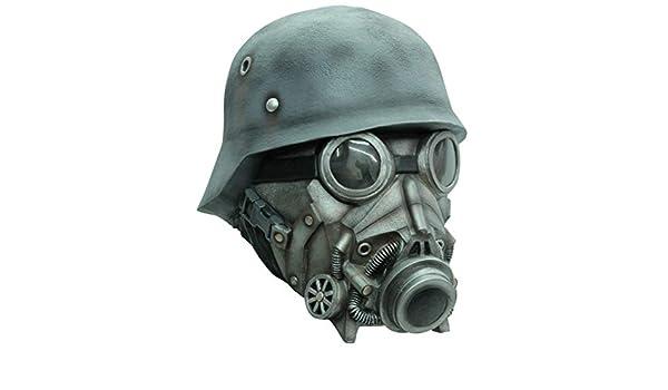 Horror-Shop Ataque de gas Máscara de gas de lujo: Amazon.es: Juguetes y juegos
