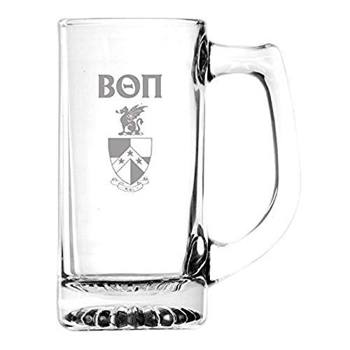 Beta Theta Pi Glass Engraved Mug Transparent Beta Theta Pi Glass