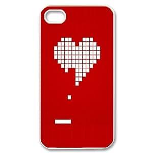 Heart Pong IPhone 4/4s Cases, Vety {White}