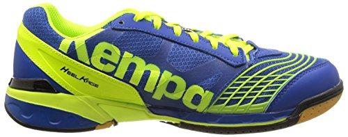 Kempa Attack Two, Herren Handballschuhe Blau (royal/jaune Fluo)