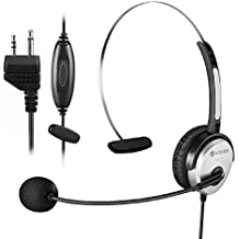 Arama PTT MIC Headphone Headset w/ Adjustable Band for Midland GMRS FRS Radios