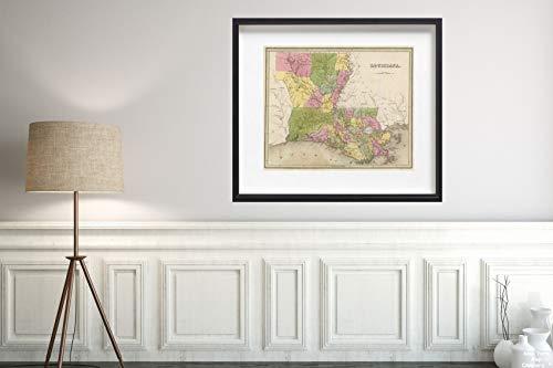 1841 Map World Atlas Louisiana Historic Antique Vintage Reprint Size: 20x24 Ready to ()