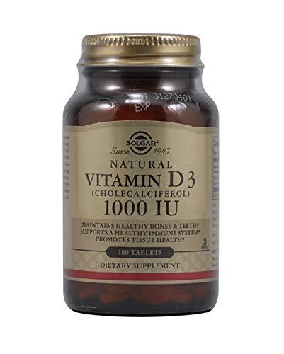 Solgar - Vitamin D3 (Cholecalciferol) 1,000 IU, 180 Tablets