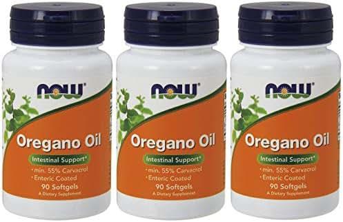 NOW Foods Oregano Oil Enteric, 90 Softgels (270 Softgels)