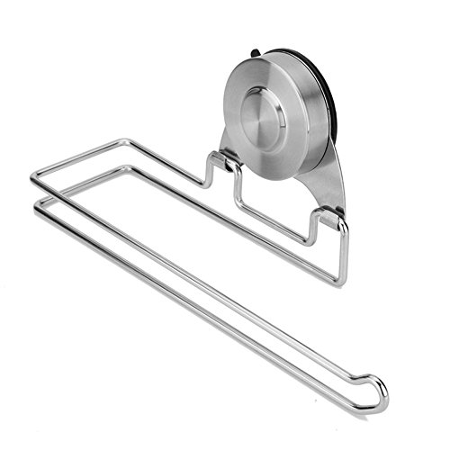 Holder Hanging Toilet Tissue - KES Suction Cup 4.5-Inch Long Toilet Paper Holder SUS304 Stainless Steel Paper Towel Dispenser Wall Mount Brushed Finish, A6270