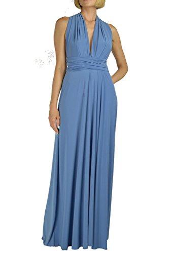 Denim Maxi Dress - Von Vonni Infinity Transformer Dress,Denim Blue,One Size Fits USA 2-10