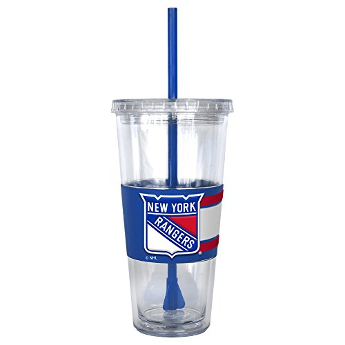 NHL New York Rangers Hype Straw Tumbler, - Rangers Tumbler