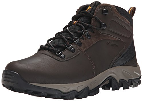 Columbia Men's Newton Ridge Plus II Waterproof Wide Hiking Boot, Cordovan/Squash, 12 Wide US -