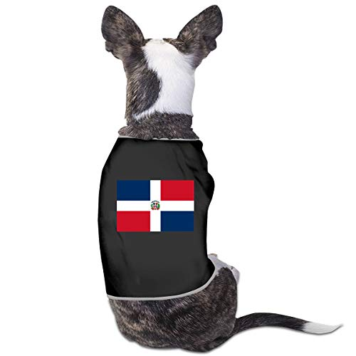 RSADGER Pet Clothing Flag of The Dominican Republic Printed T Shirts Dogs Summer Vest Puppy Pet Shirt