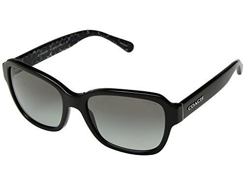 COACH Women's 0HC8232 56mm Black/Dark Grey Gradient One Size by Coach