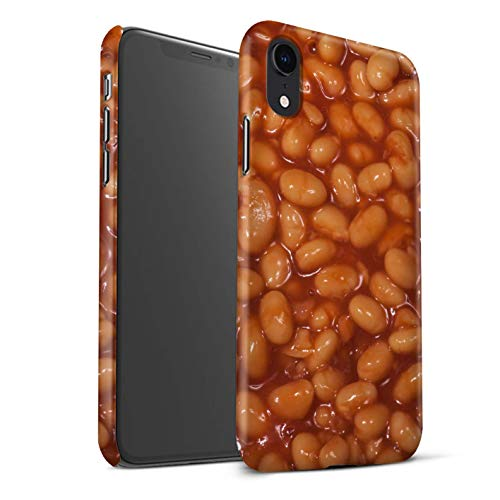 STUFF4 Matte Hard Back Snap-On Phone Case for Apple iPhone XR/Baked Beans Design/Food Collection - Bean Collection