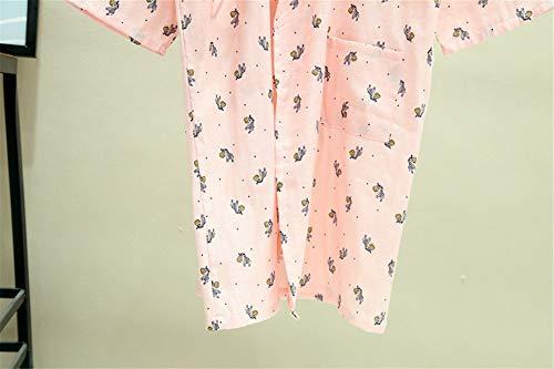 Giapponese B Per Uomini Cotone Sveglia Manica Casuale l Ytfoplk Veste Lunga Spa Semplici Della Accappatoi Spring Kimono Maschio Il Del Zebra Gli nARZTFqp