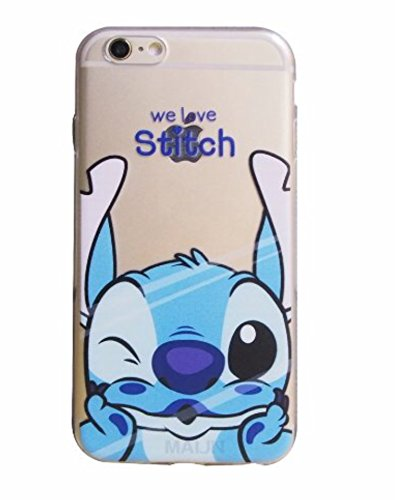 ent Clear Ultra Thin Soft Silicone Gel Case Cover TPU Funny Face PRIME (Stitch, iPhone X) ()