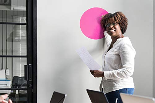 Dry Erase Circles 8 Pieces - White Board Marker Removable Vinyl Dots Sticker Set (11 inch) - Perfect for classrooms, offices, and home - SylkyClover Photo #4