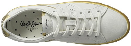 Femme Or Basses Sneakers Jeans Pepe Clinton Mirrow Gold RxqwfxXH