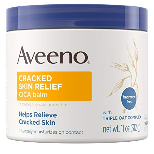 Aveeno Cracked Skin Relief Balm 11 Ounce Jar Pack of 2