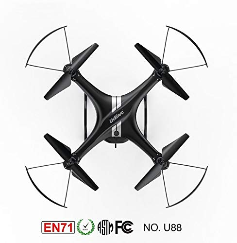 Fytoo UDIRC U88 Drone 2.4Ghz WiFi & FPV Drone with 120 Degree Wide Angle HD Camera, U88 WiFi UFO Quadcopter