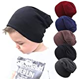 Guozyun Baby Boy's Beanie Hats Cotton Skull Caps for Toddlers Kids Little Boys 6-60 Months 5-Pack (6-60 Months, 5 - Color)