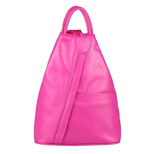 ITALY mano cuero Daypack de de Bolso Mujer BxHxT piel piel Chocolate bolso aprox Mochila rosa de Hombro natural MADE cm 25x30x11 backpack Bolso de Napa de OBC Marrón IN Cuero Mochila zqwaEB6Rqx